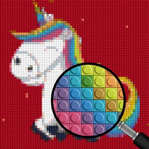 Unicorn pixel art